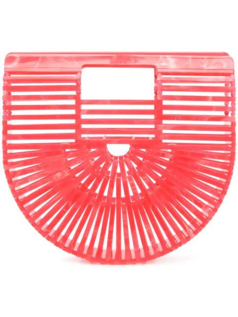 Cult Gaia Ark Small Acrylic Clutch Bag In Wtm Watermelon