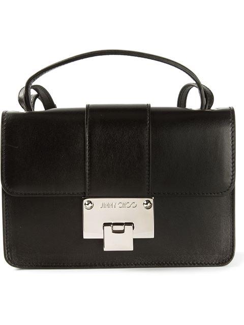 Jimmy Choo Rebel Black  Grainy Calf Leather Cross Body Bag