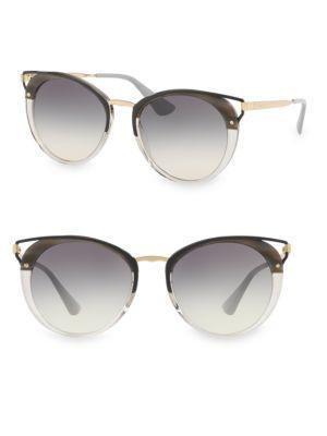 58158252fc03 Prada 54Mm Cutout Cat Eye Sunglasses In Striped Grey