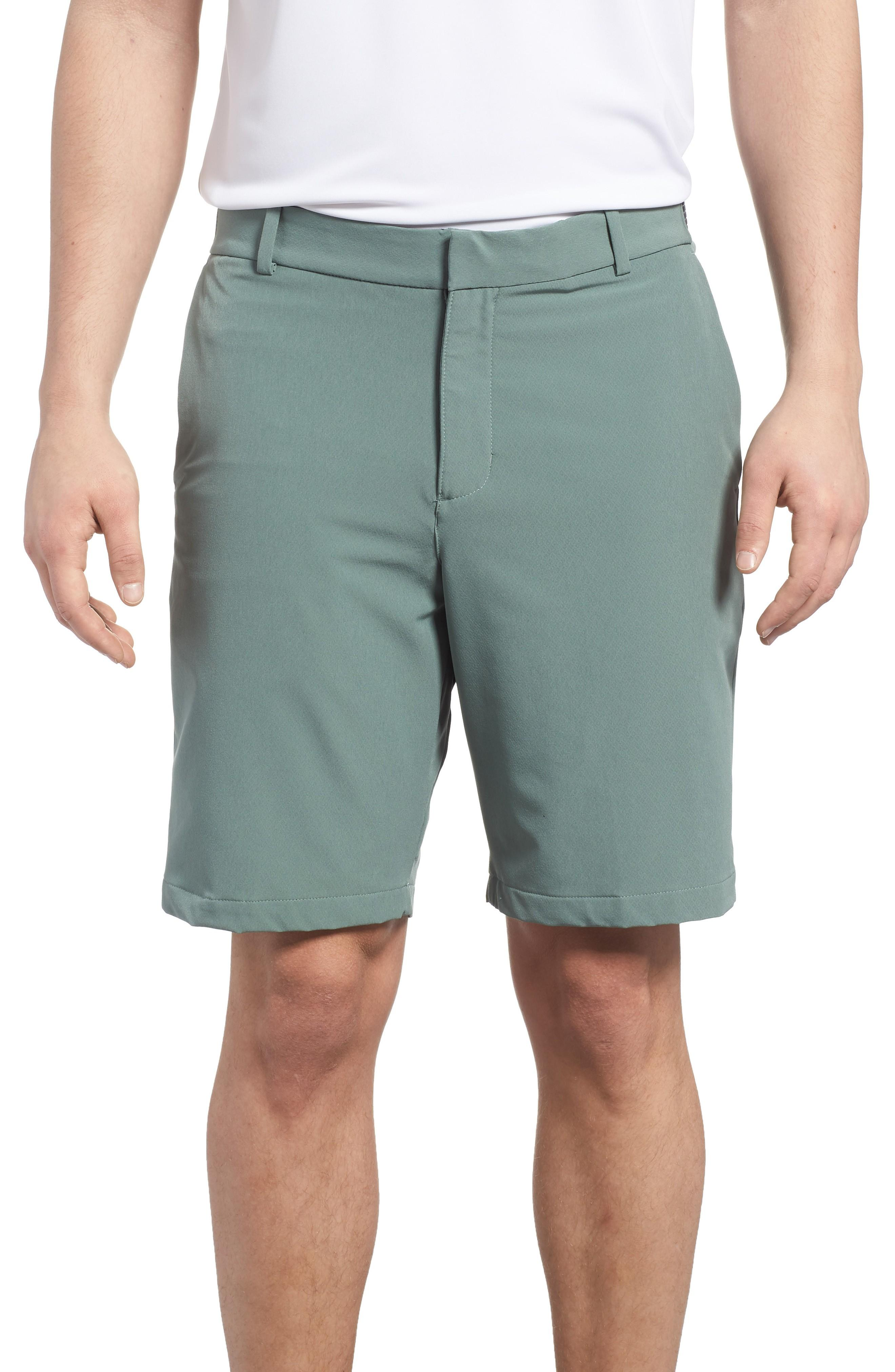85470f63b374 Nike Dry Flex Slim Fit Golf Shorts In Clay Green  Black
