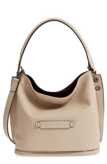 4d320faf6 Longchamp 3D Leather Bucket Bag - Grey In Clay | ModeSens