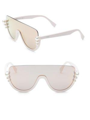 a3b693256dab5 Fendi 99Mm Pearl Shield Sunglasses In Pink