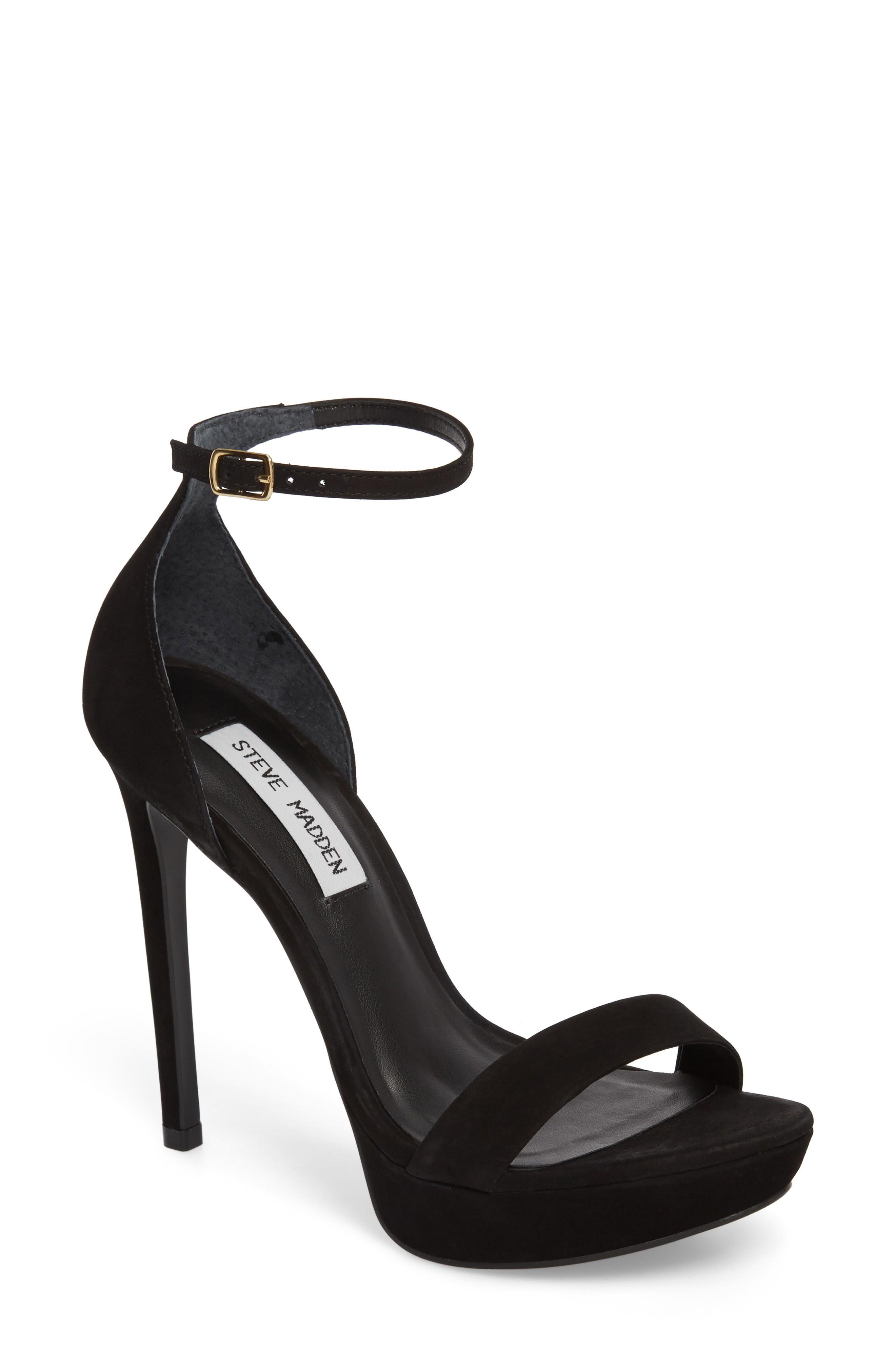3cc64186f38 A sky-high stiletto and covered platform add serious height to a strappy  sandal. Style Name  Steve Madden Starlet Platform Sandal (Women).