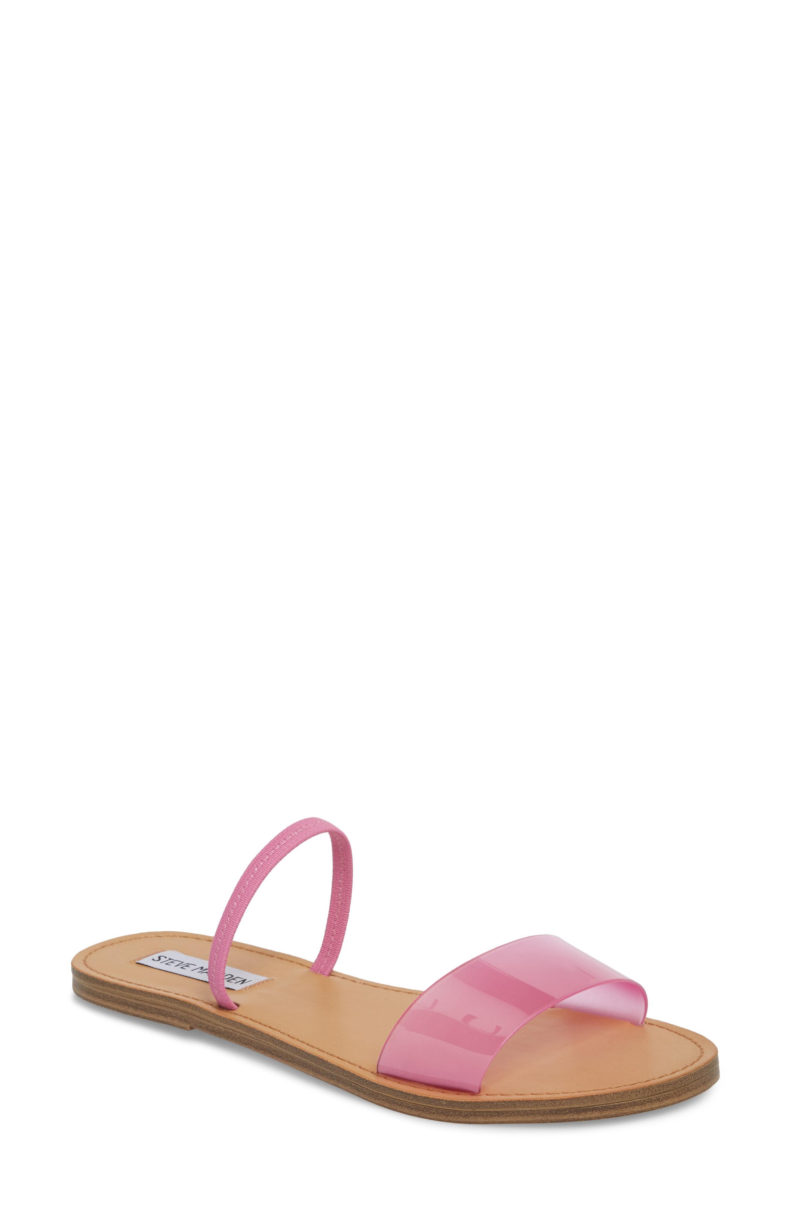 1ef3054c13b Steve Madden Dasha Strappy Slide Sandal In Pink