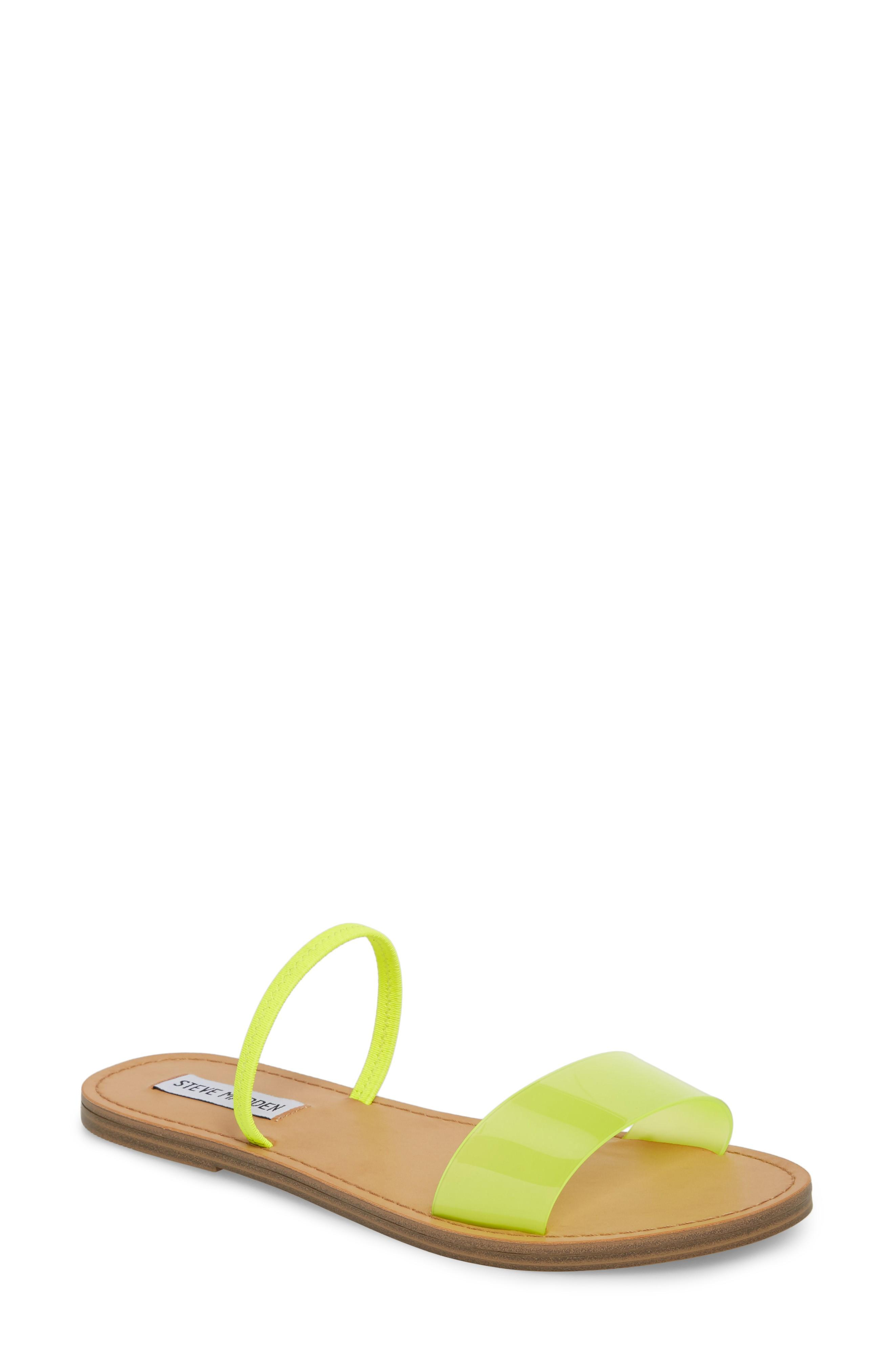 aab53207d8a Steve Madden Dasha Strappy Slide Sandal In Yellow