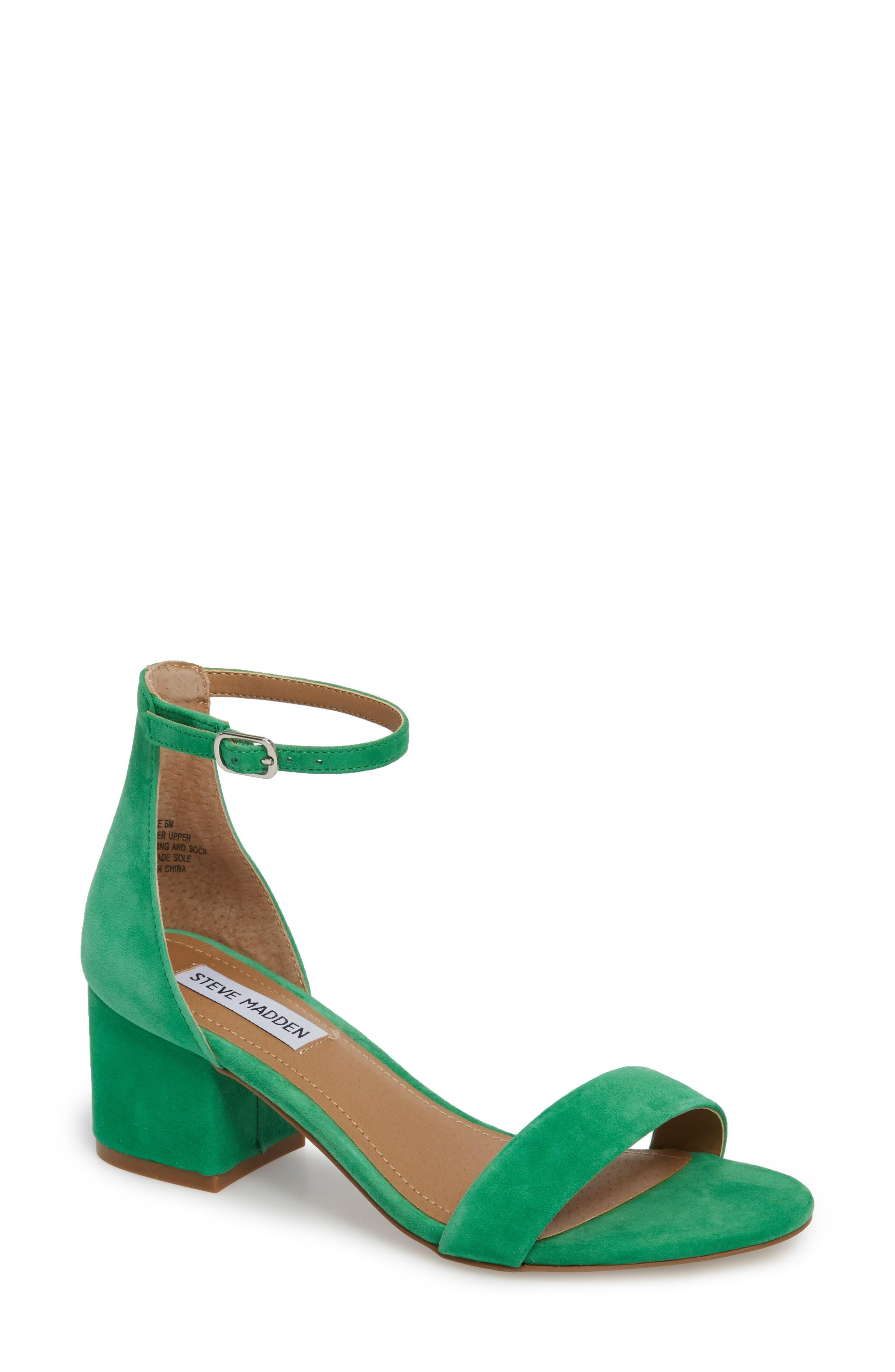62f300dd5d Steve Madden Irenee Ankle Strap Sandal In Green Suede | ModeSens