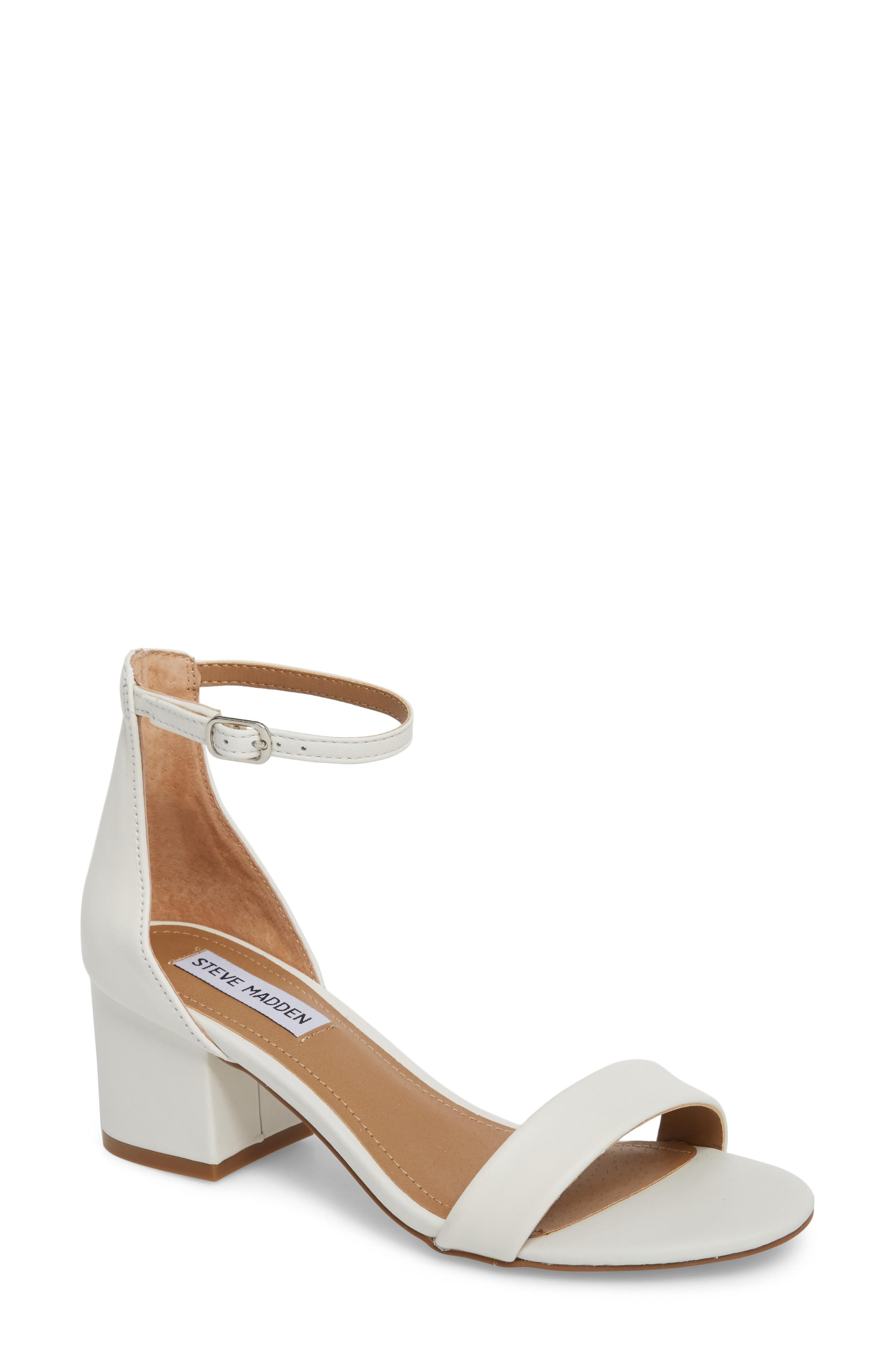 f9f3fb88149 Steve Madden Irenee Ankle Strap Sandal In White Leather