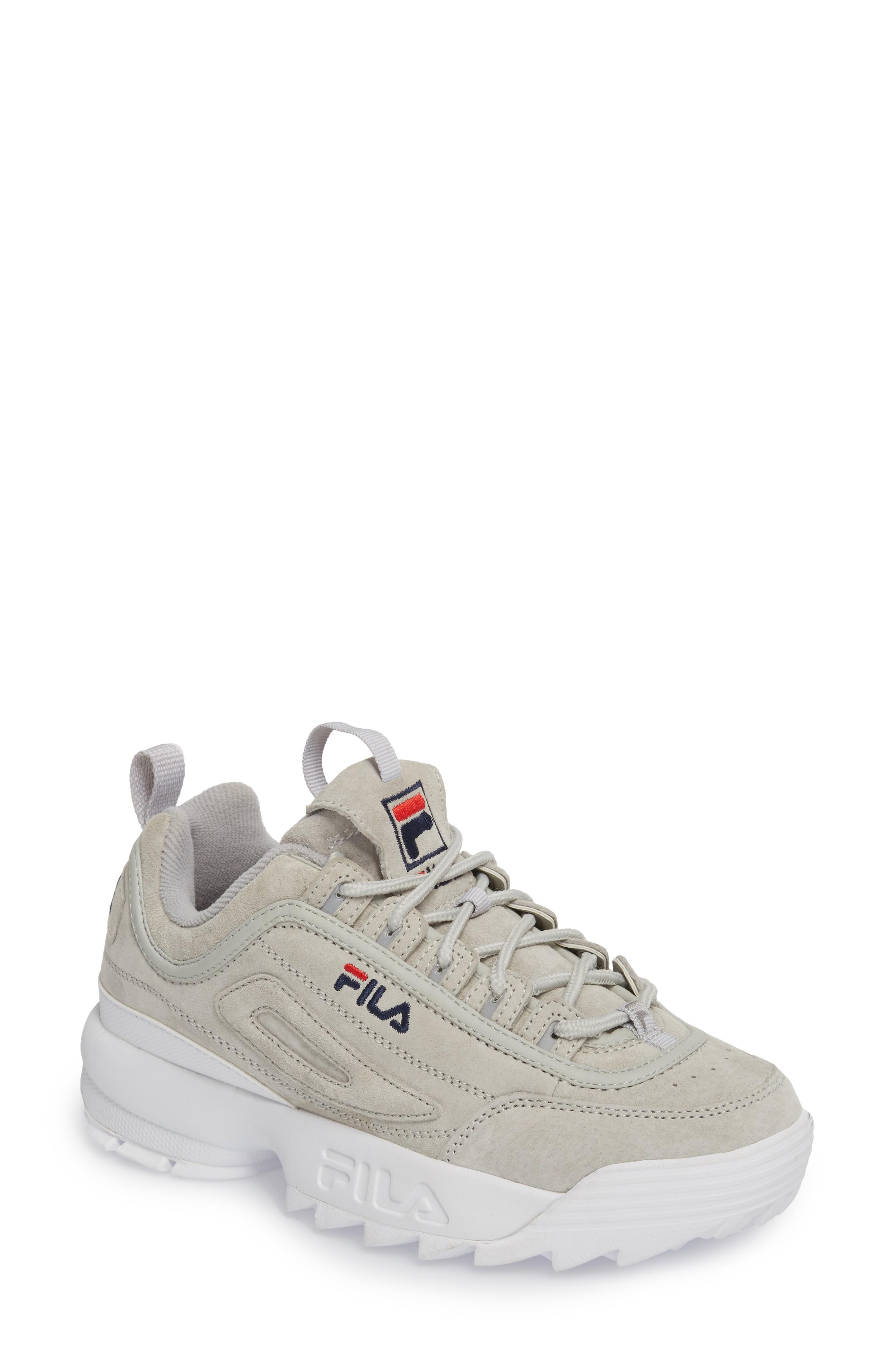 ed6675753201 Fila Disruptor Ii Premium Suede Sneaker In Gryv  Gryv  Wht