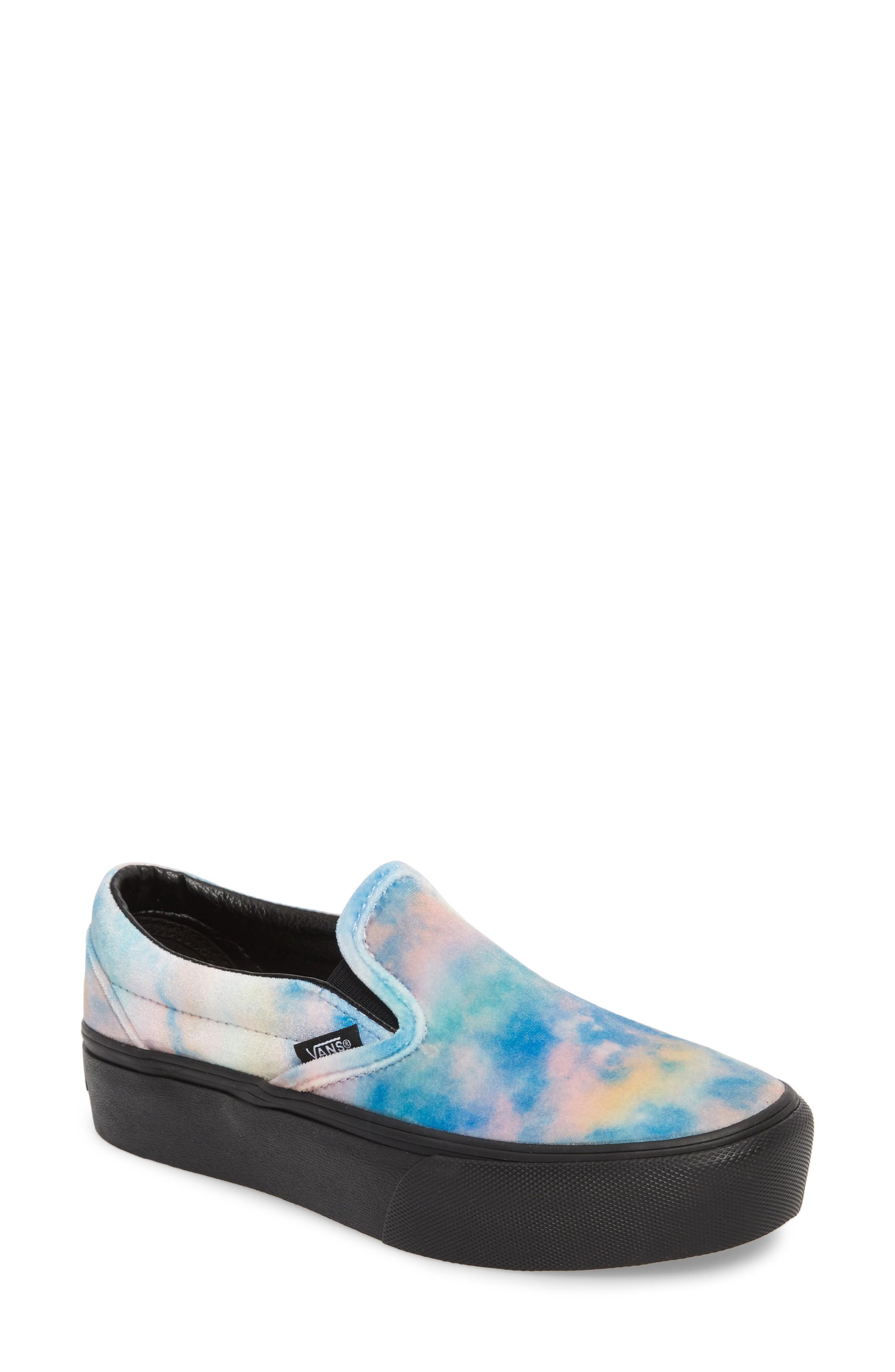 1e53b2675ce8 Vans Platform Slip-On Sneaker In Velvet Tie-Dye Multi  Black