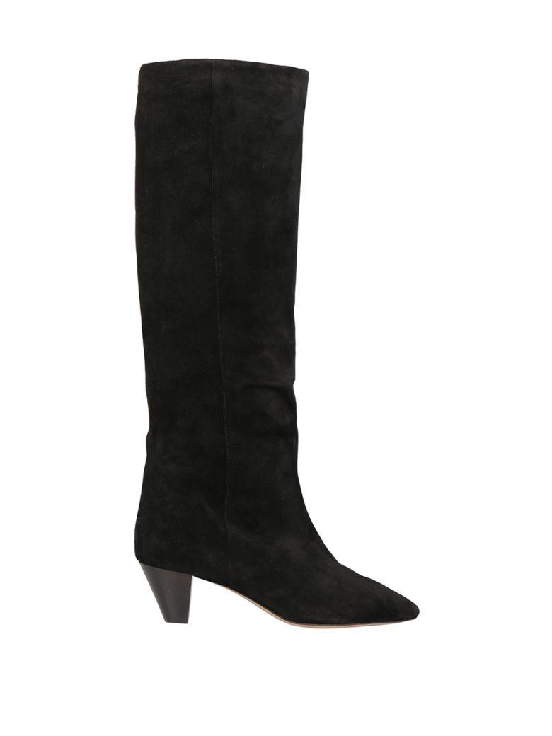 Isabel Marant Robby Suede Boot In Nero