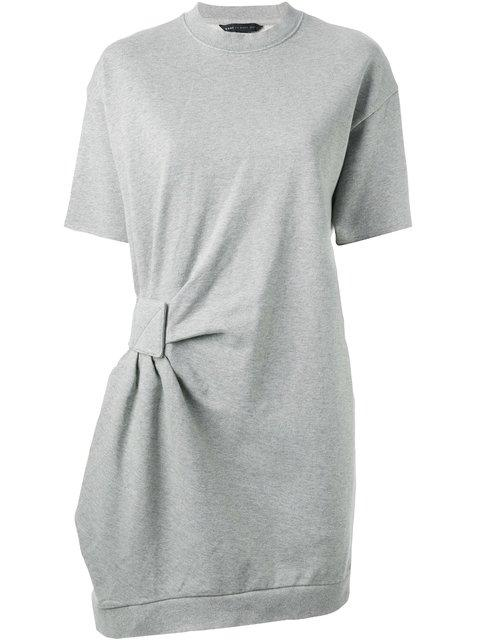 Marc By Marc Jacobs Gathered Detail Sweatshirt Dress In Grey