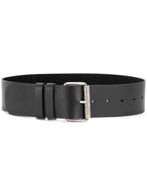 Aspesi Buckled Belt In Black