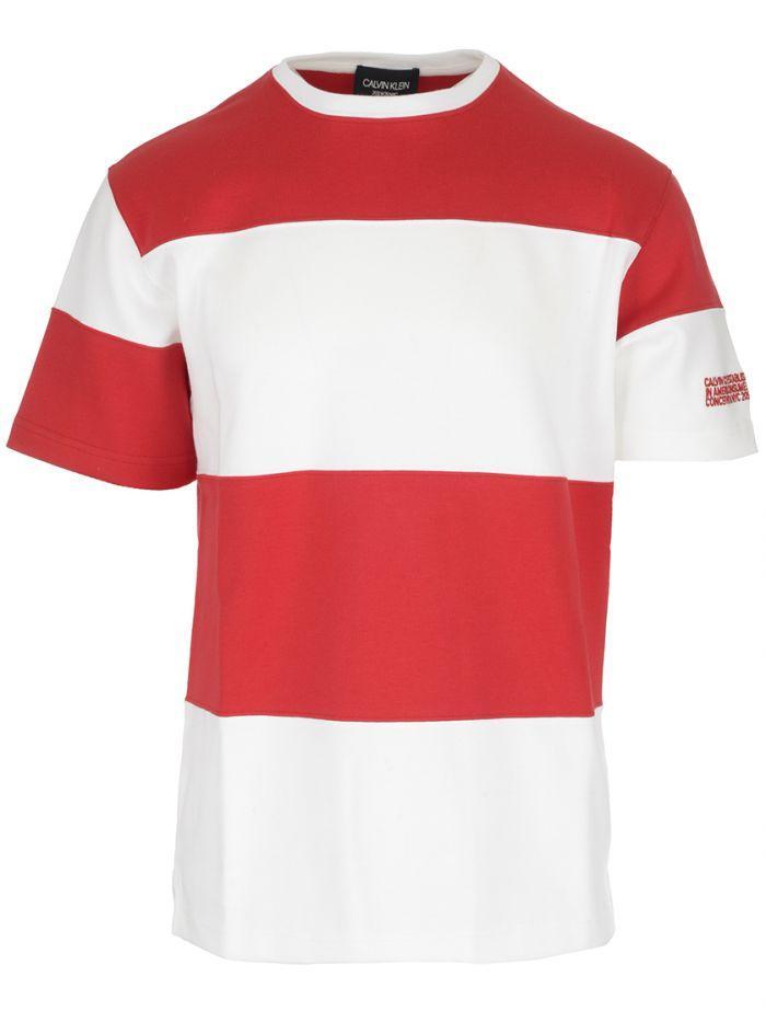 6e8d48706cfa Calvin Klein 205W39Nyc Red Block Striped Shirt | ModeSens
