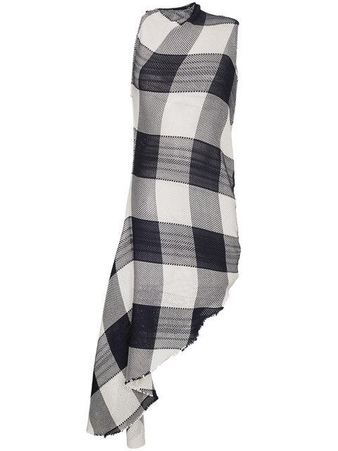 7266ef62e0d MARQUES  ALMEIDA. Marques Almeida Sleeveless Check Knitted Asymmetric Dress  in Black