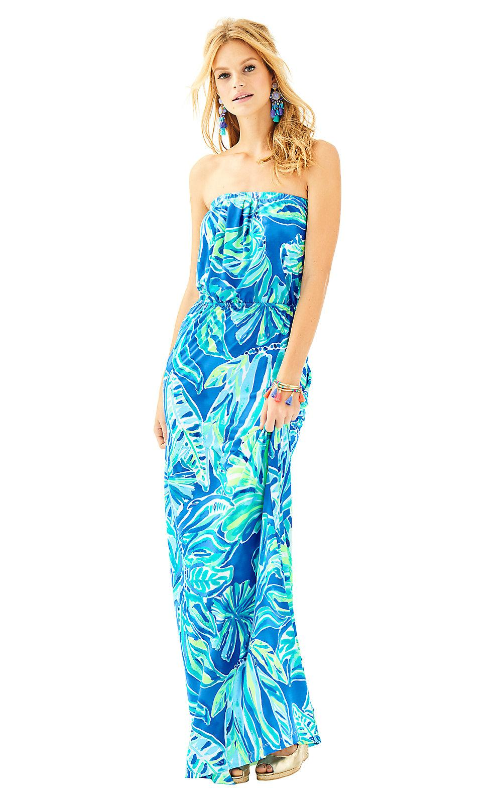 24015fad92d6cd Lilly Pulitzer Womens Marlisa Maxi Dress In Multi Dancing On The Deck