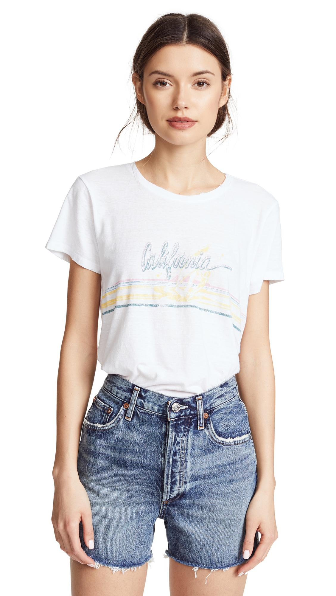 8ef679745b2 Paige Bexley Windsurfer Printed Jersey T-Shirt In Misted Yellow 80