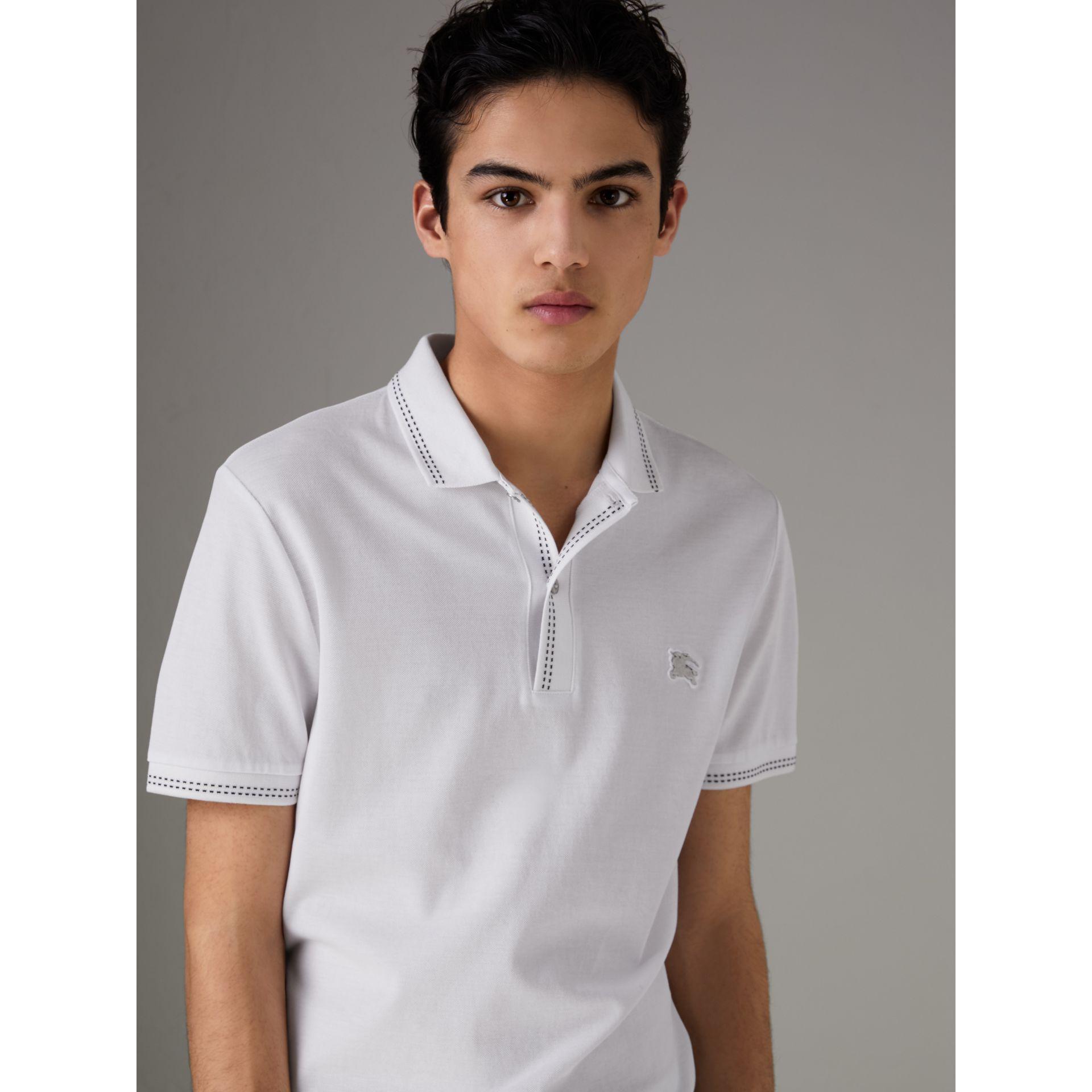 Burberry Cotton PiquÉ Polo Shirt In White