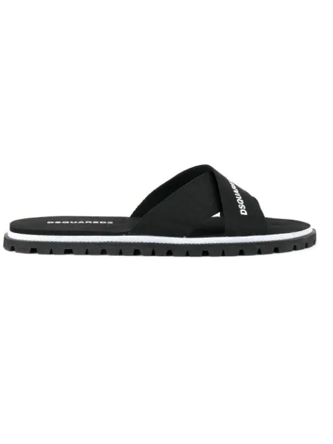 Dsquared2 Men's Slippers Sandals Rubber In 2124