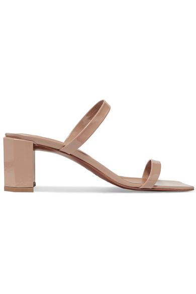 97570bd99b6 By Far Tanya Patent-Leather Sandals In Neutral