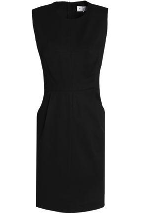 Milly Woman Stretch-Cotton Mini Dress Black