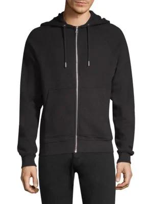 John Elliott Raglan Zip-Front Jacket In Black