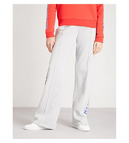 95993df13d38ca Tommy Hilfiger X Gigi Hadid Logo-Print Jersey Track Pants In Light Grey Htr