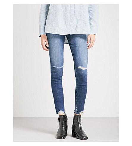 52bdffbc4c5 J Brand Maria Distressed Skinny High-Rise Jeans In Revoke Destruct ...