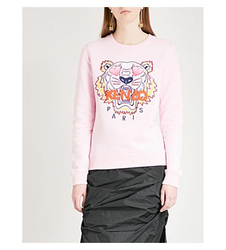 7937ebda48 Kenzo Valentine's Day Tiger Cotton-Jersey Sweatshirt In Flamingo Pink