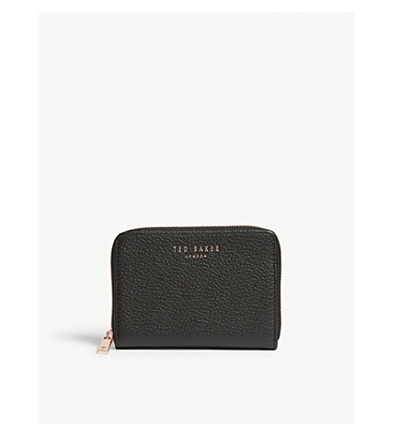 Ted Baker Illda Zipper-Around Leather Wallet In Black
