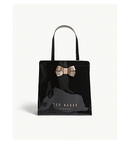 Ted Baker Vallcon Large Icon Shopper In Black