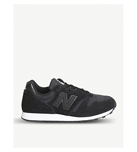 New Balance Wl373 Suede Trainers In Black Lace