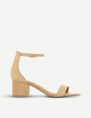d7a6f49a484c Steve Madden Irenee Suede Heeled Sandals In Tan-Nubuck