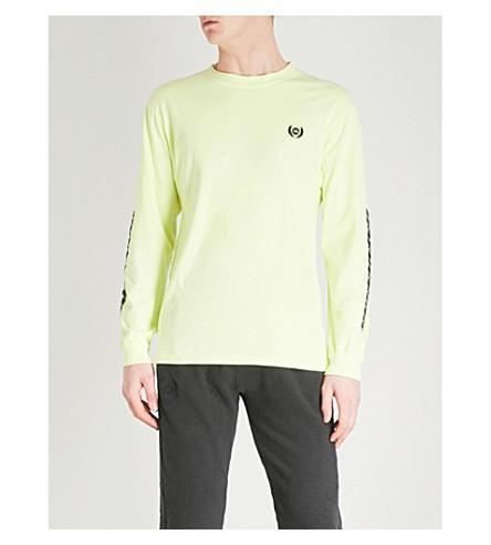 705985696ceaa Yeezy Season 5 Calabasas-Print Cotton-Jersey T-Shirt In Frozen Yellow