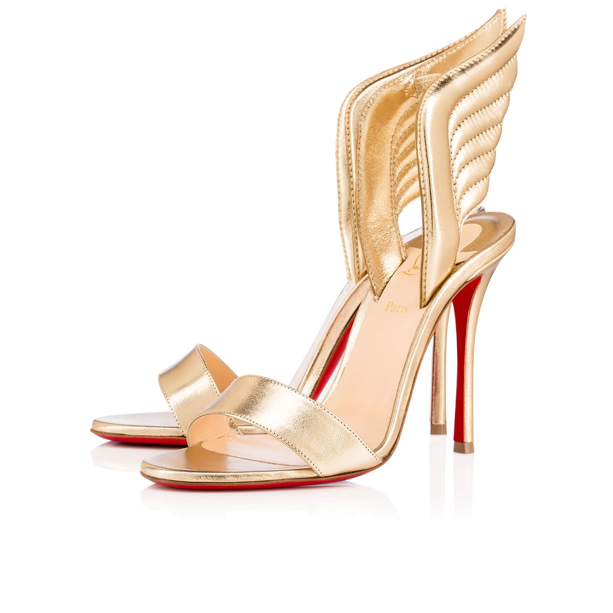 a48b147c001 Samotresse Wings Red Sole Sandal, Gold in Light Gold
