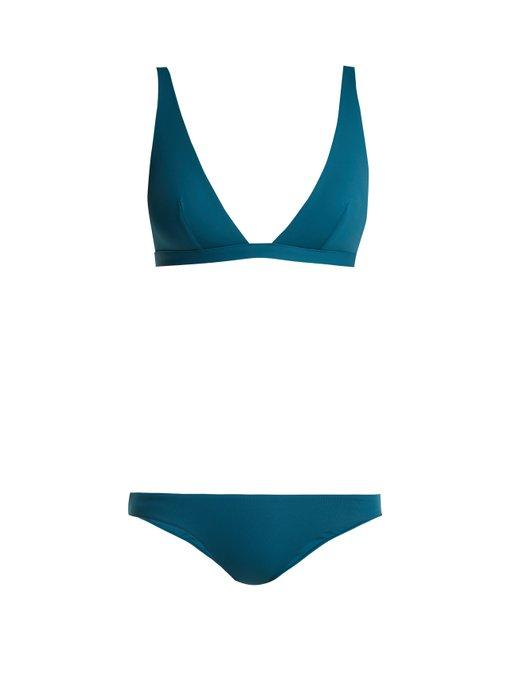 Melissa Odabash Malta Triangle Bikini In Blue