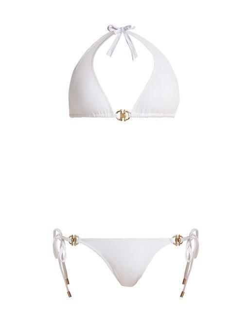 Melissa Odabash - Bahamas Halterneck Bikini - Womens - White