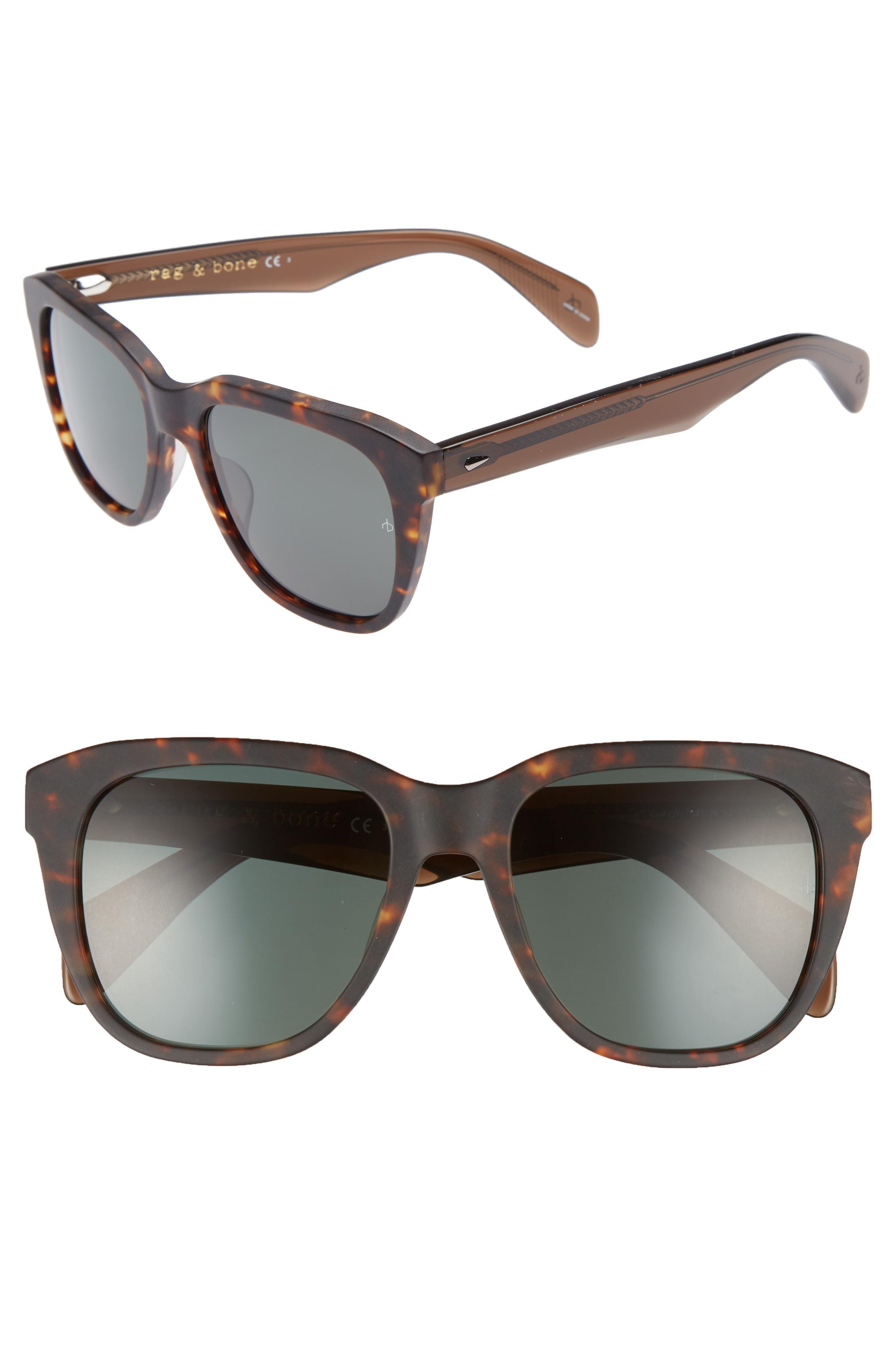 e2d1788fed51 Rag   Bone 54Mm Sunglasses - Matte Havana