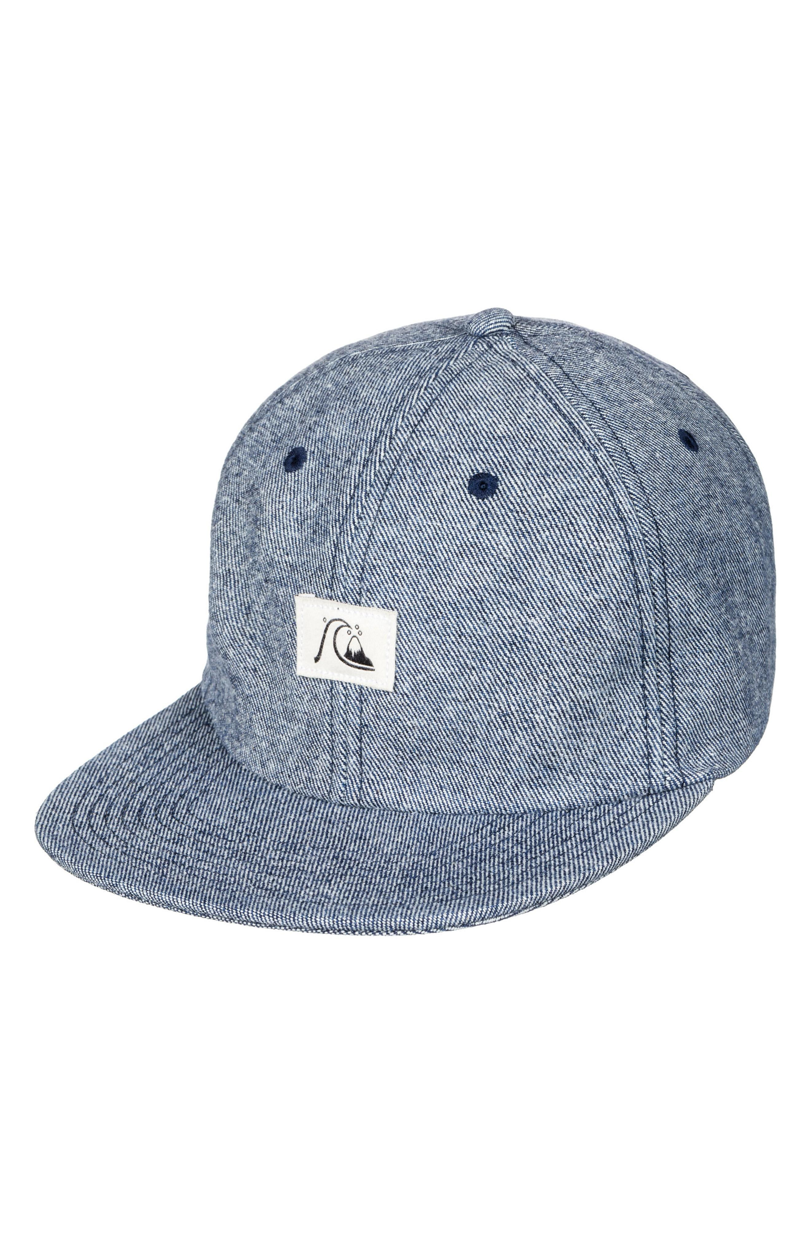 huge discount 34605 2ba2c Quiksilver Pinchfield Snapback Baseball Cap - Blue In Dusk Blue
