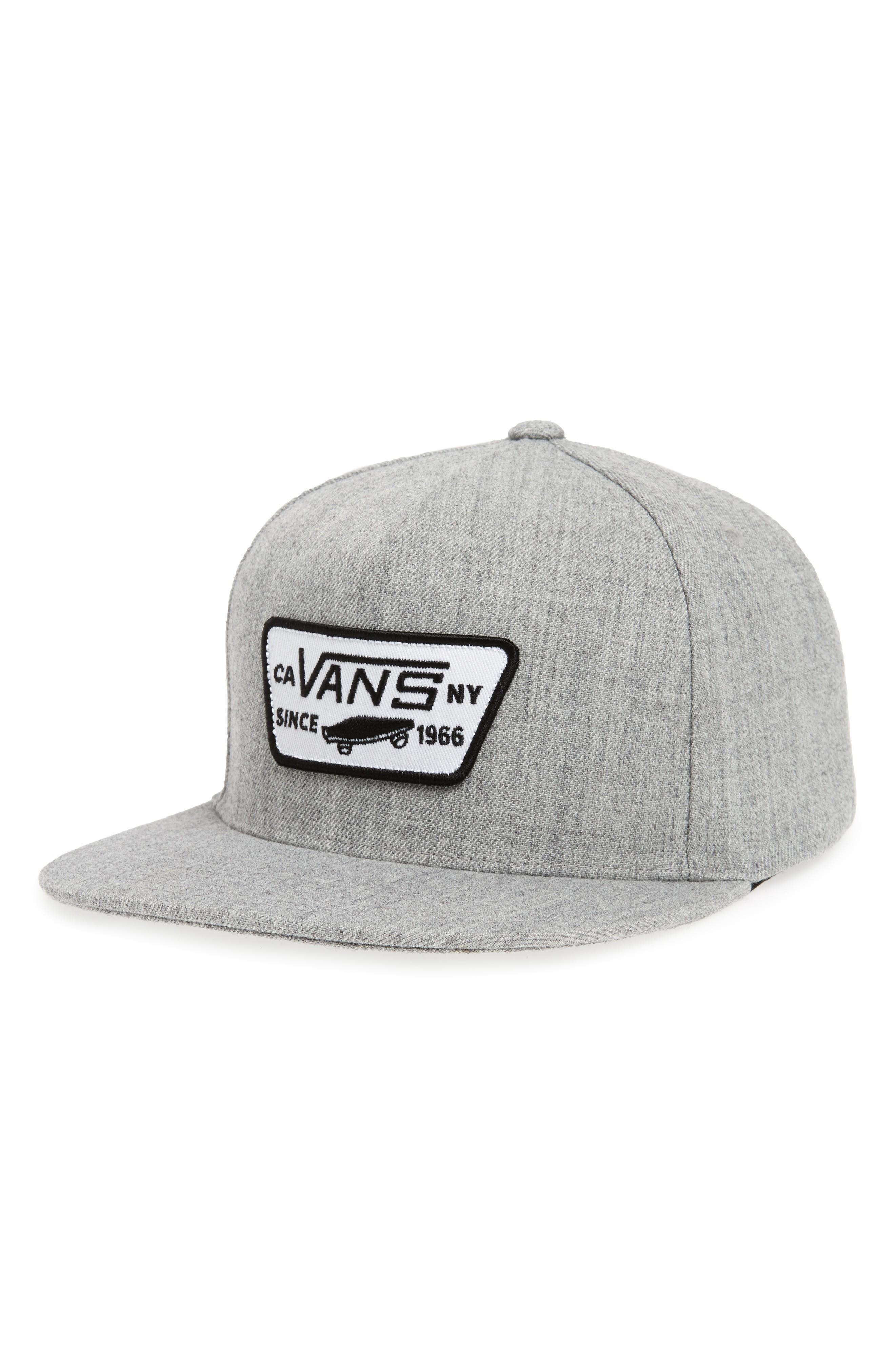 08fa2261 Vans 'Full Patch' Snapback Hat - Grey In Heather Grey   ModeSens