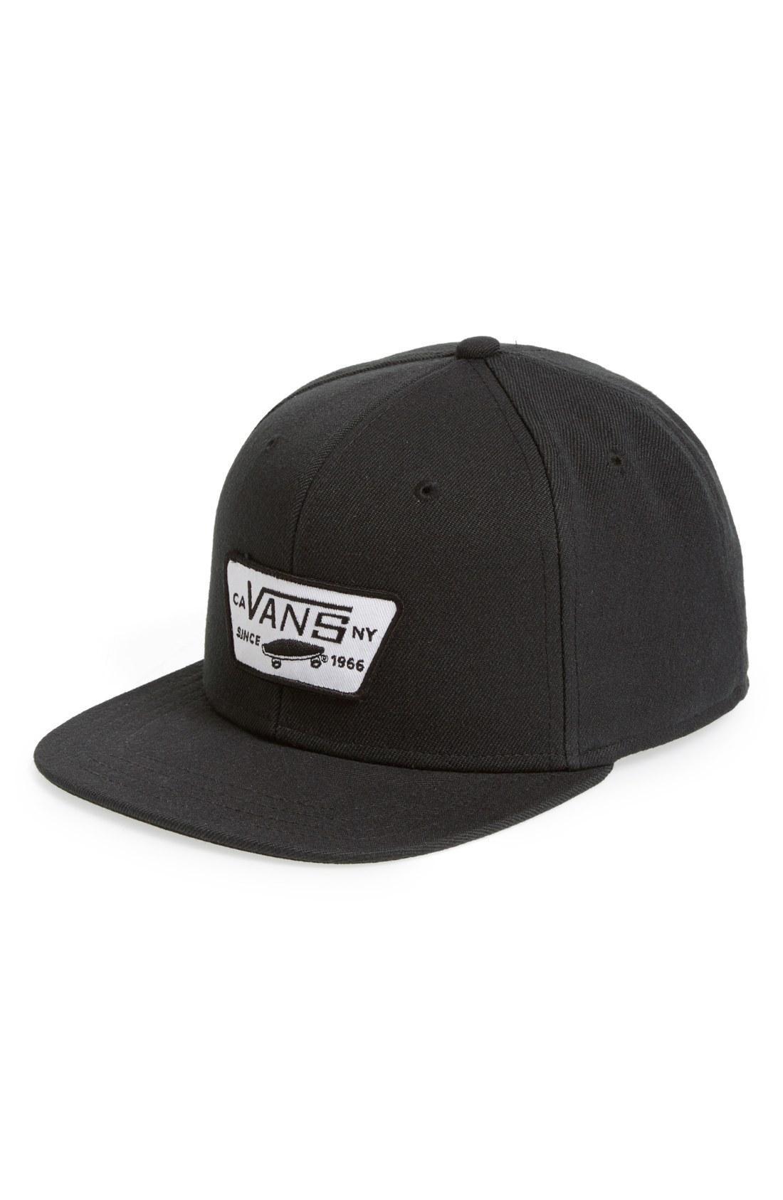dc5e9f3484a Vans  Full Patch  Snapback Hat In True Black