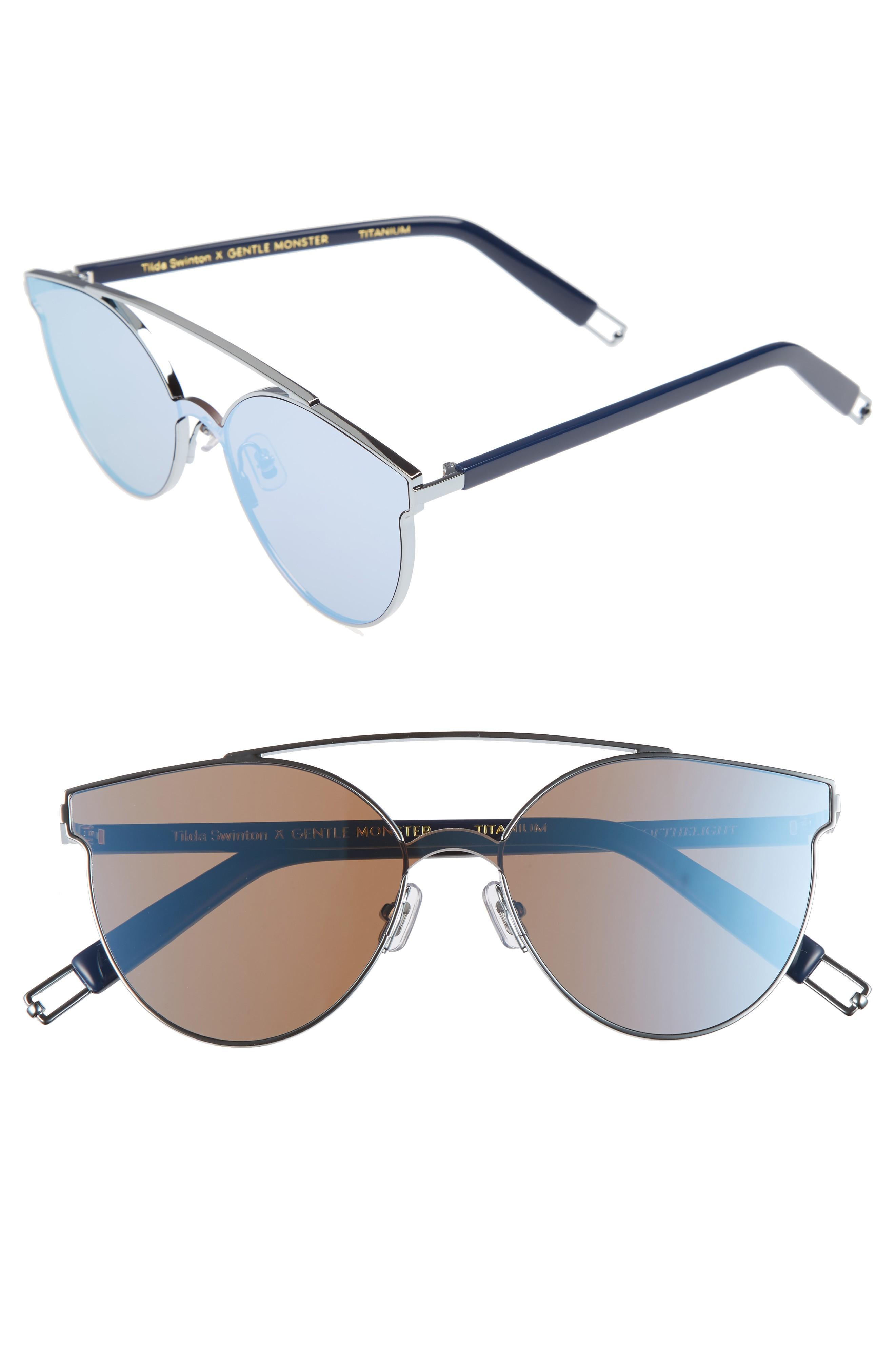 506b3f9ef28c Gentle Monster Trick Of The Light 60Mm Shield Sunglasses - Blue Mirror