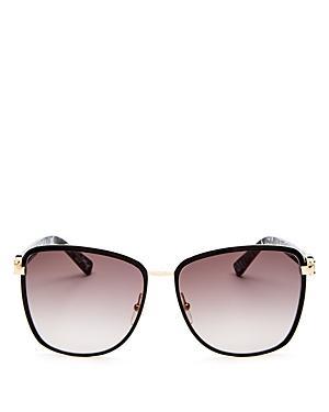 52b6cc3d658a Longchamp Women's Premiere Family Paris Oversized Square Sunglasses, 61Mm  In Gold/ Black