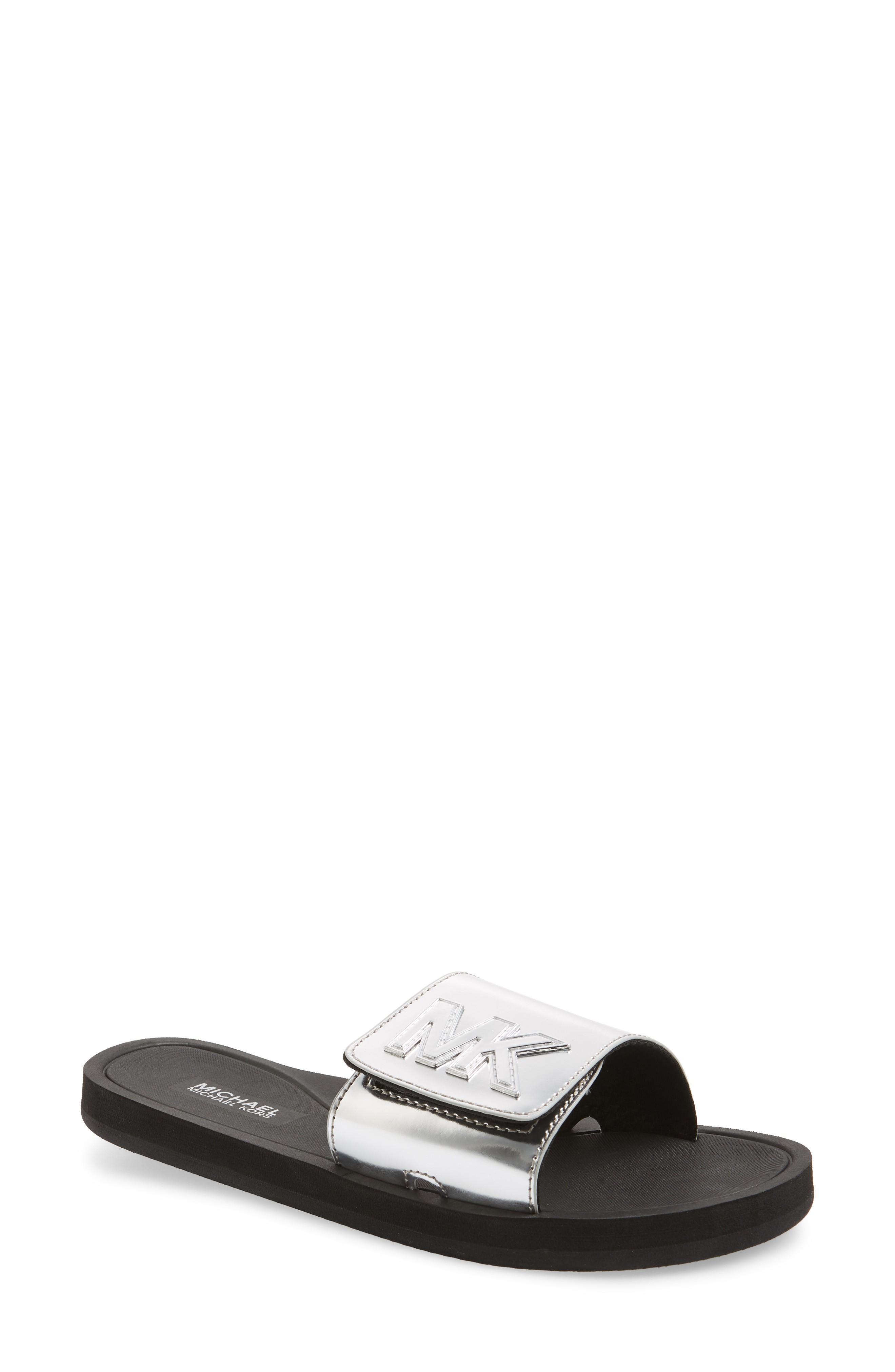 12d86c80cee5 Michael Michael Kors Mk Embellished Fabric Slide Sandal In Multi ...