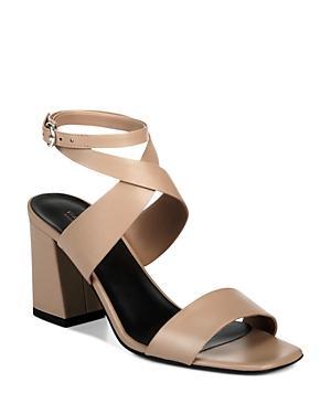 f5a413da3b Via Spiga Women'S Evelia Ankle-Strap Leather Block Heel Sandals In Nougat  Leather