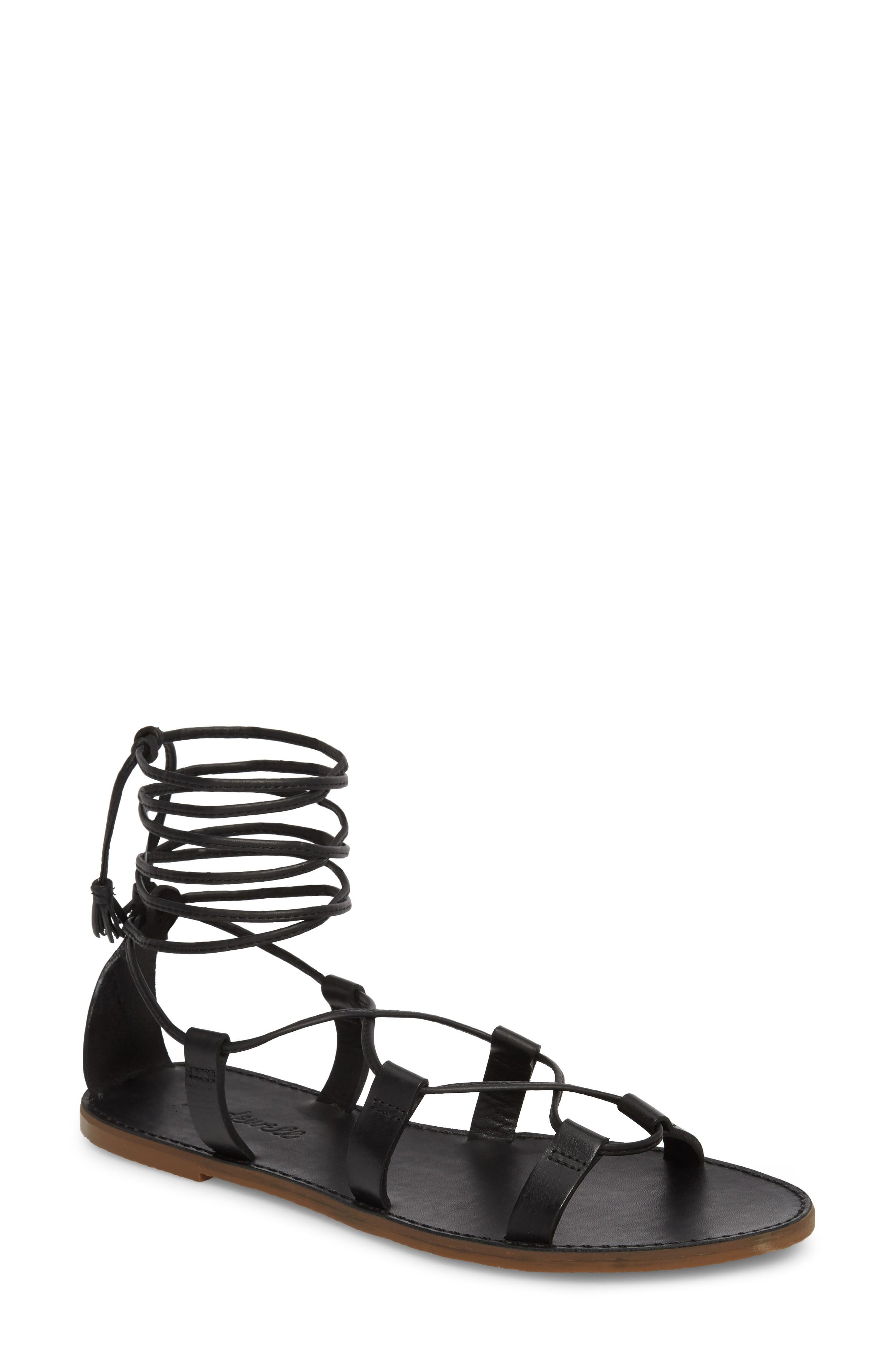 e5bc8c7dc57 Madewell The Boardwalk Lace-Up Sandal In True Black