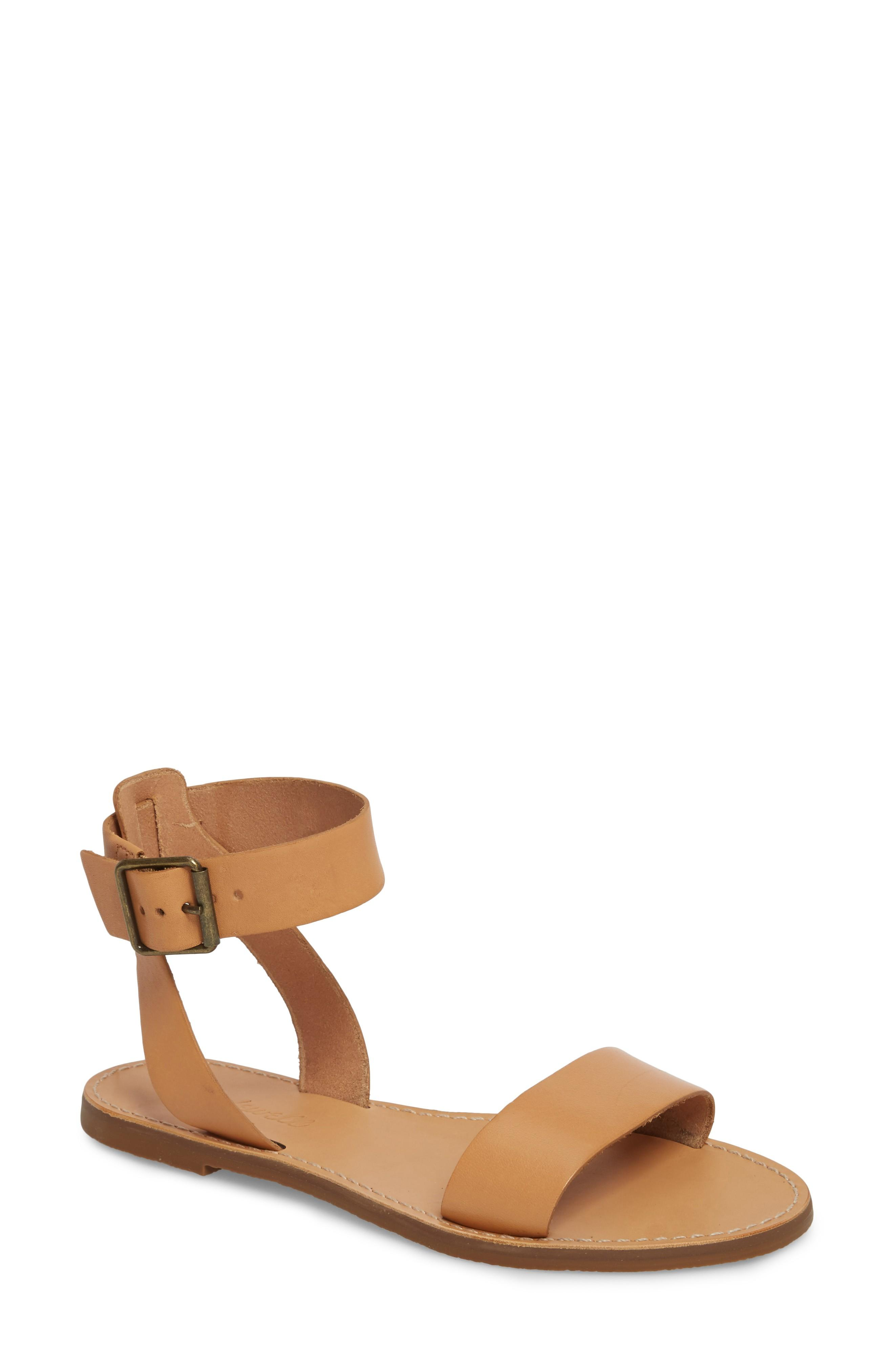 9df55d7917b Madewell The Boardwalk Ankle Strap Sandal In Natural Buff Leather ...
