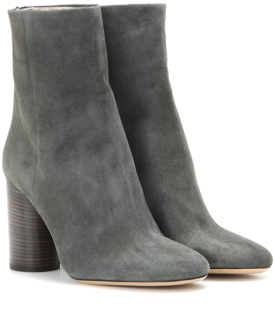 Isabel Marant Garett Suede Ankle Boots In Grey