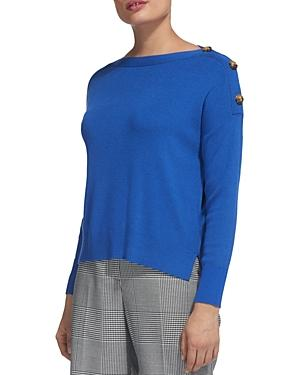 Whistles Button-Detail Sweater In Blue