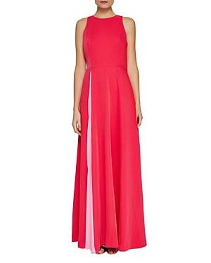 5ea0fb70a3e489 Ted Baker Madizon Contrast Pleat Maxi Dress In Deep Pink