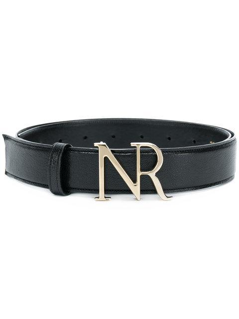 Nina Ricci Branded Buckle Belt In Black